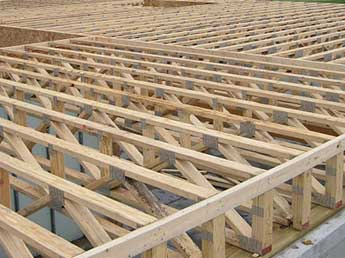 Floor truss construction pictures to pin on pinterest Floor joist trusses